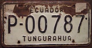ECUADOR 1973 Tungurahua passenger