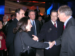 Maria Pia Gazzella with officials from Santiago Metro and Balfour Beatty