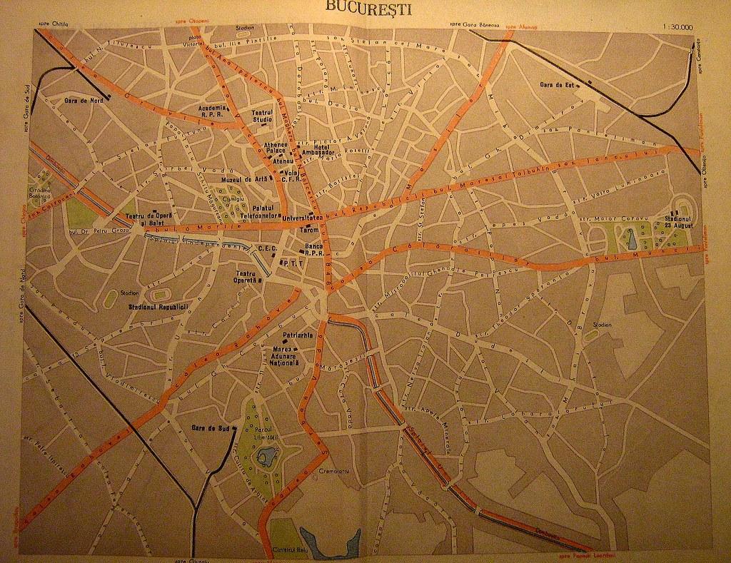 Bucuresti 1960 Harta Zonei Centrale Ca Element De Noutate Flickr