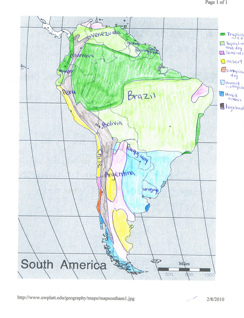 South America climate map | raidersdate | Flickr on map of saint lucia highlands, peru highlands, map of guiana highlands, map of latin america and its landforms, map of argentina with lakes labeled, map of red sea highlands, map of scotland highlands,