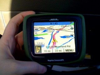 Dad's new GPS toy