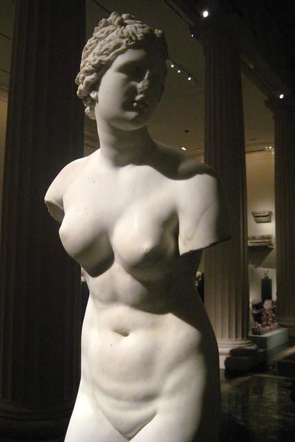 NYC - Metropolitan Museum of Art: Marble statue of Aphrodite