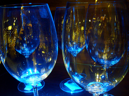 Blue wine glasses | by viZZZual.com