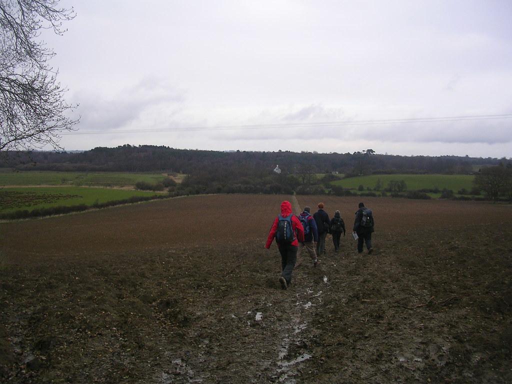 Muddy field Pulborough Circular