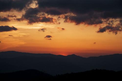 sunset orange nps northcarolina blueridgeparkway abigfave impressedbeauty