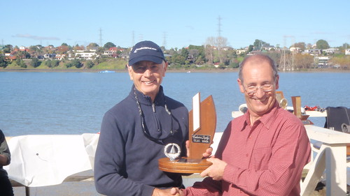 Jock Bilger winner of 2009 Club Champs Trophy   by PLSC (Panmure Lagoon Sailing Club)