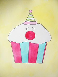 Clown Cupcake | by whimsylove