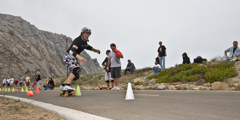 9A national slalom skateboarding in Morro Bay, CA