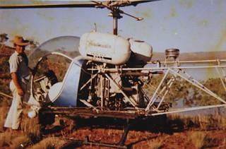 1971-72 - Operation Ord Noah - Bell 47-G5 ('Herdmaster') Ken Watts - Helicopter pilot for Hooker Pastoral Co (Rosewood Station) - KHS-2013-31-b-P-BD-12
