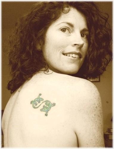 Jane Sepia with Tattoo