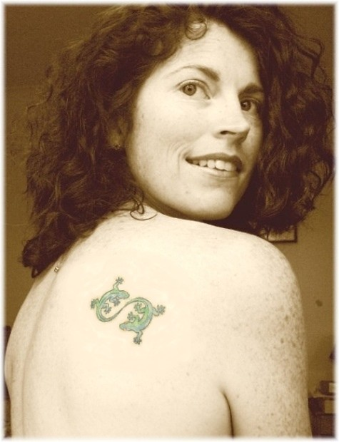 Jane Sepia with Tattoo