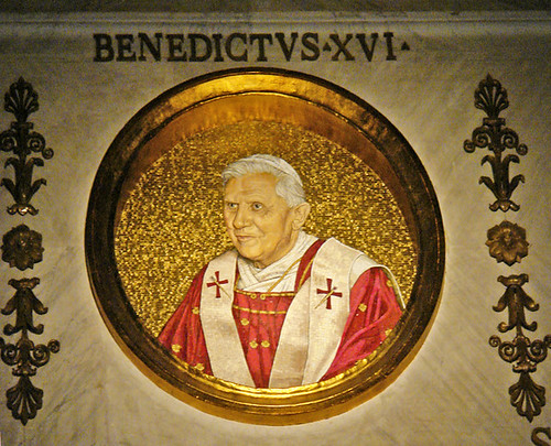 Pope Benedict - mosaic portrait at Basilica of St. Paul outside the Wall | by joe.routon