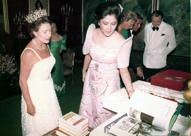 Her Royal Highness The Princess Margaret, Countess of Snowdon with the First Lady Imelda R. Marcos at Malacanang Palace