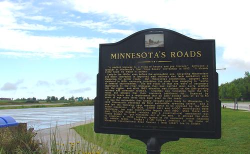 2005 vacation minnesota sign geotagged roadtrip september historical roads restarea i35 interstate35 historicalsign touristinformationcenter geo:lat=43515739 geo:lon=93353169