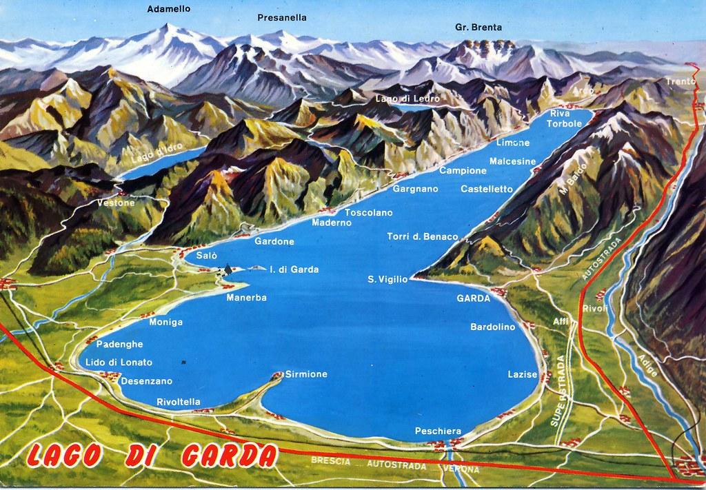 Lago Di Garda Map Card Italia Luca Desde Italia It 14404 Flickr