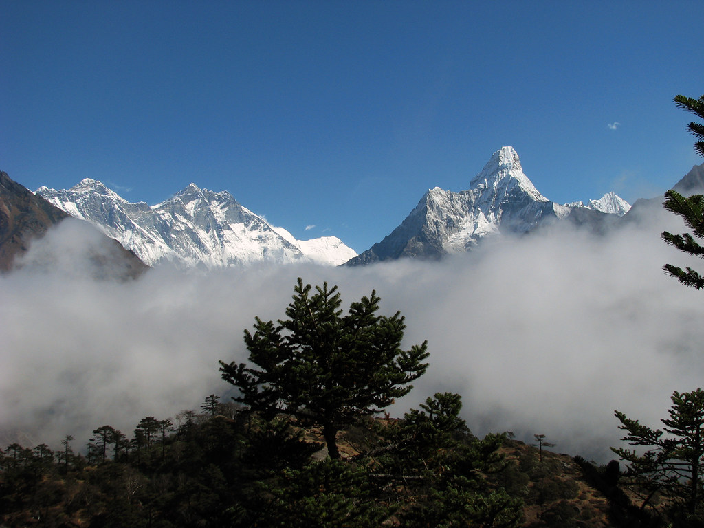 The Everest group and Ama Dablam ...