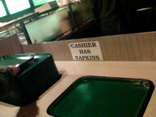 cashier has napkins | by katerba