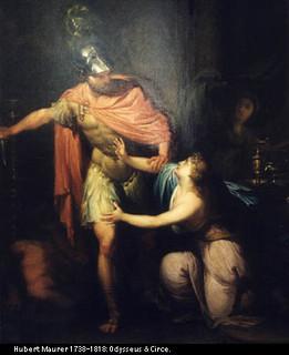 Odysseus Threatens Circe On The Isle Of Aeaea Known To Th