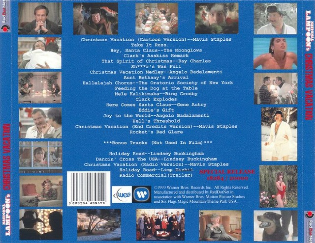 Christmas Vacation Soundtrack.National Lampoon S Christmas Vacation Soundtrack Cd Rear C