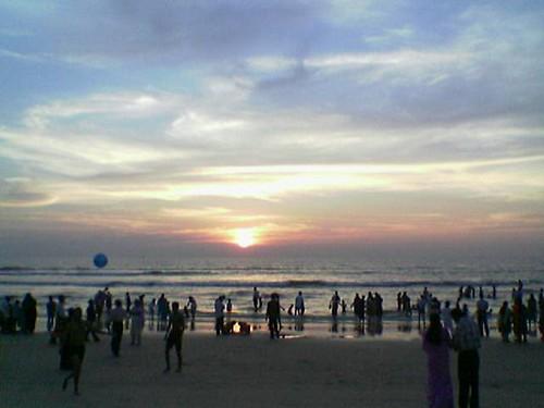 sunset panambur panamboor beach mulki mulky mangalore karnataka india nelsonkarkada