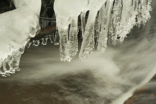hanging rippled ice forms | by halfbeak