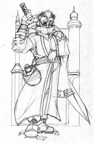 Final Fantasy X Auron Sketch These Are The Sketches For A
