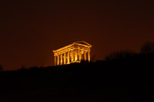 2008-Feb-15 - Penshaw Monument at Night