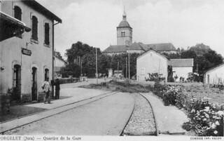 La gare d'Orgelet