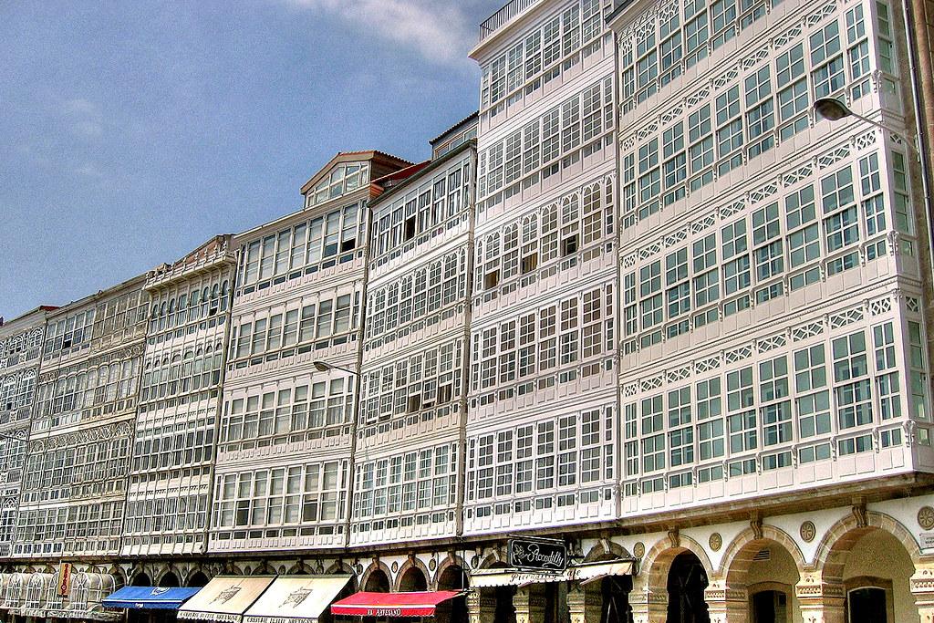 A Coruña Galerías Del Paseo De La Marina Ramón Sobrino Torrens Flickr