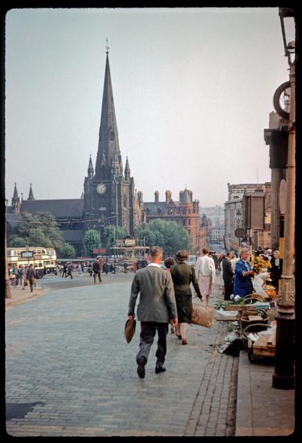 Bull Ring market area, Birmingham, 1959