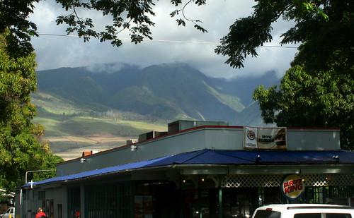 Burger King at the foot of the mountains
