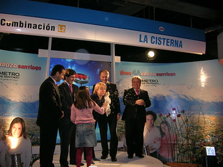 The Opening of the Metro extension line in Santiago, Chile