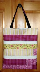 pink green white tote   by becauseimme
