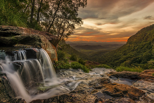 queensland australia sunset landscape longexposure reisen travel camping nature natureshiddensecrets hiking waterfalls nikond800 moranfallslamington