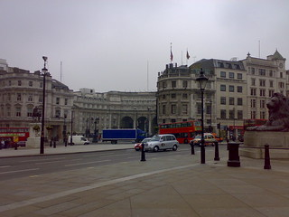 Admiralty Arch having just emerged from the Strand Tube station | by James F Clay