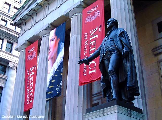 George Washington Statue, Federal Hall National Memorial, Wall Street, Manhattan, New York City