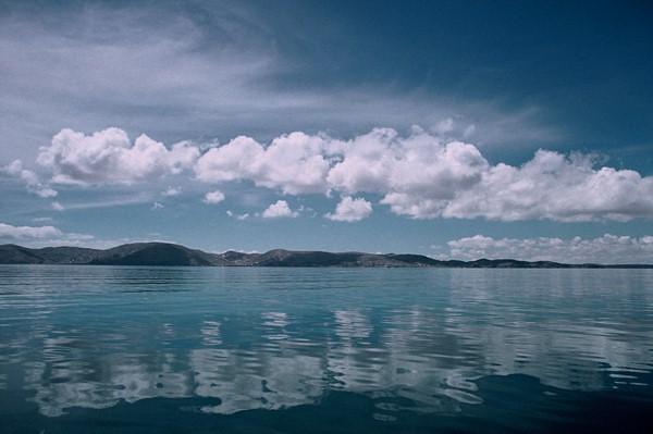 """""""Mirrored Clouds"""", Lake Titicaca, Peru"""