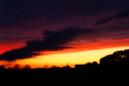 sunset red orange cloud black yellow photoshop manipulated scott evening louisiana purple enhanced orton 2007 3666o