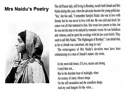 Mrs Naidu's poetry for Jinnah | by Doc Kazi