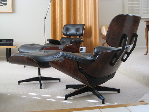 Eames Lounge Ottoman Pair The Rosewood Set In The