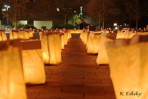 Luminarias, down low | by Kevin Eddy