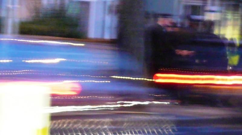 A police check in Dagenham Heathway