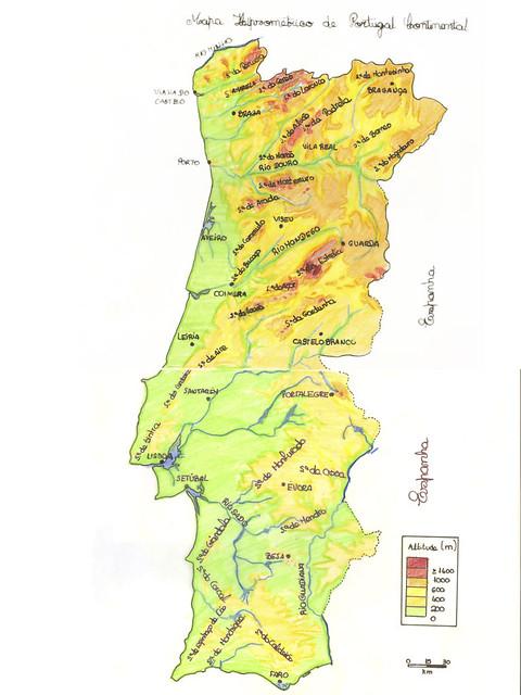 Hipsometrico De Portugal Mapa Criado Pelo Mario Jorge Alu Flickr