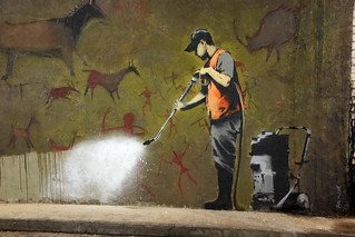 Banksy Cleans Up - Cave Painting   by greenwood100