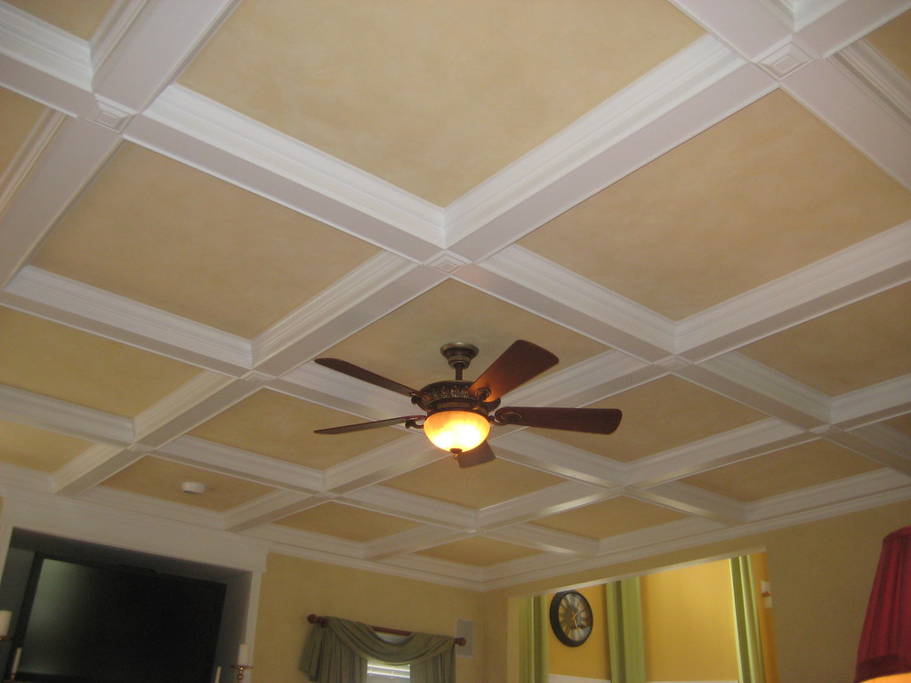 wood laminate coffered ceiling kits   coffered ceiling kits (not)   picture of a coffered ...