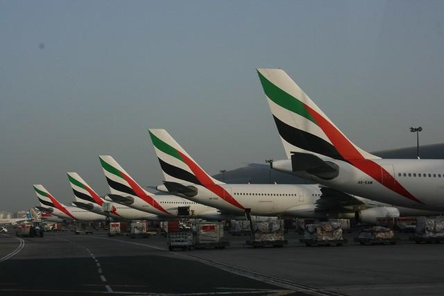 Emirates Tail-fins at Dubai Airport