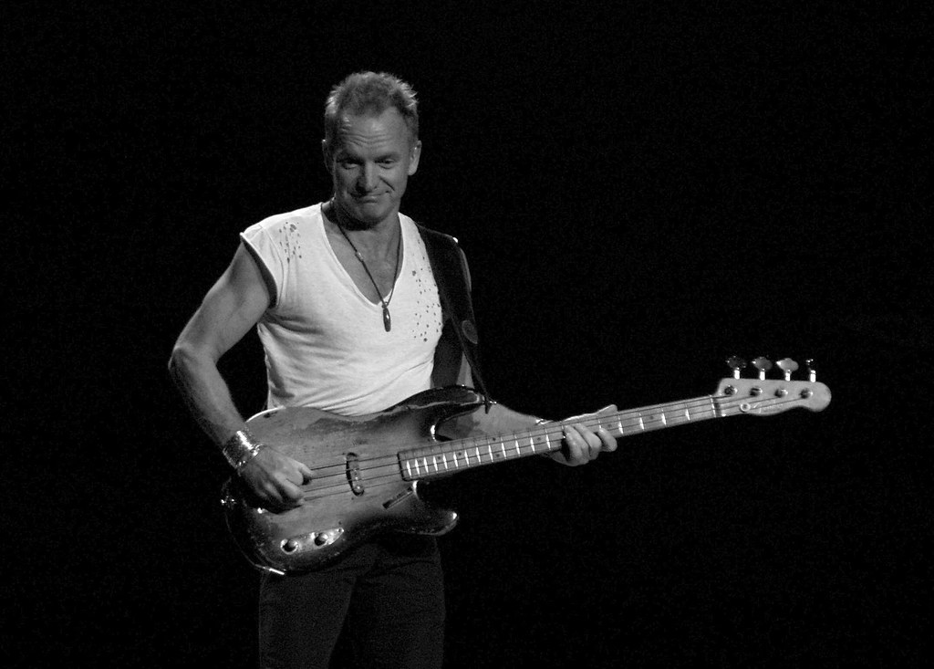 sting and his ratty old 1955 bass sting 39 s fender bass appe flickr. Black Bedroom Furniture Sets. Home Design Ideas