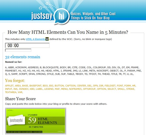 Naming HTML Elements in 5 Minutes   www justsayhi com/bb/htm…   Flickr