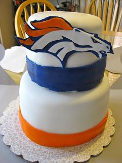 Fine Denver Broncos Themed Grooms Cake Lizziecakes2 Flickr Birthday Cards Printable Trancafe Filternl