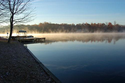 thanksgiving travel orange lake fog sunrise d50 virginia lakeofthewoods